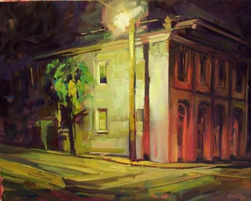 Night Glows on Meeting by Rick Reinert