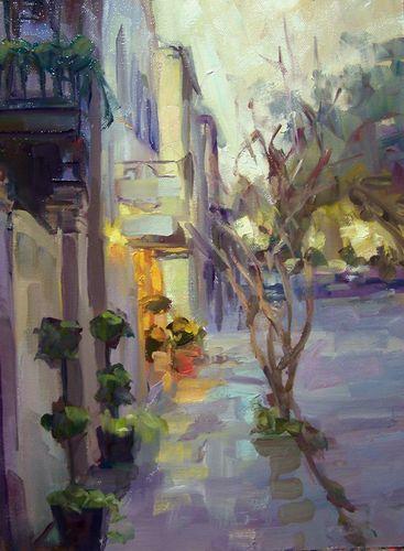 Rain at Dusk Church Street by Rick Reinert