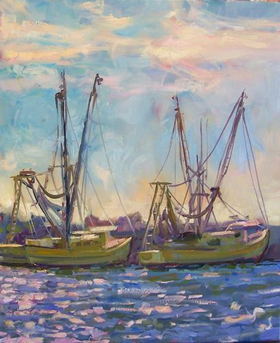Moored at Folly by Rick Reinert