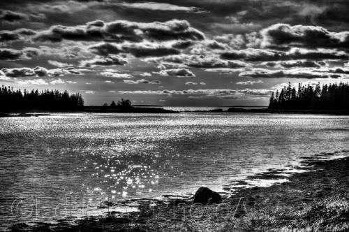 Night fall in Acadia