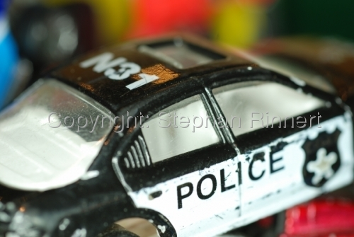 Dented Police Toy Car