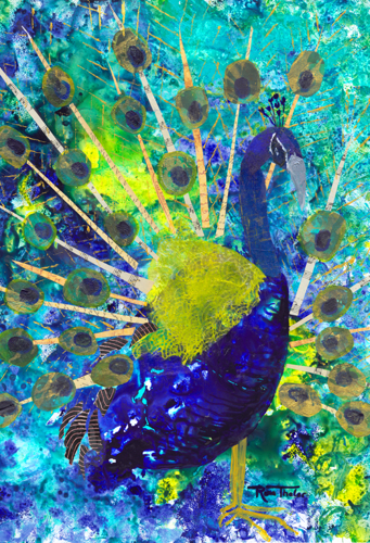 Peacock- Birds of a Feather Series by Rina Thaler