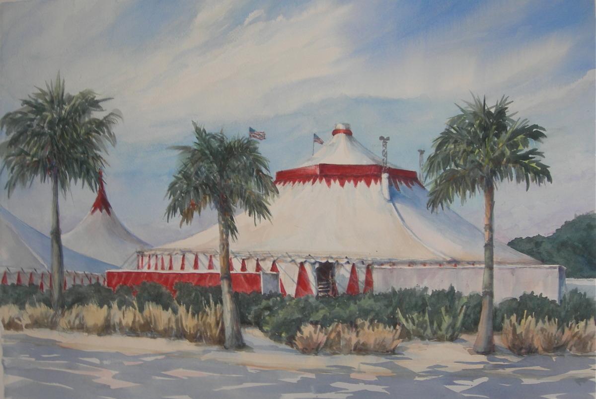 circus tents, sarasota circus (large view)