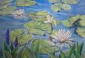 lotus blooming at pond edge (thumbnail)