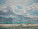 Siesta beach w/ storm clouds (thumbnail)