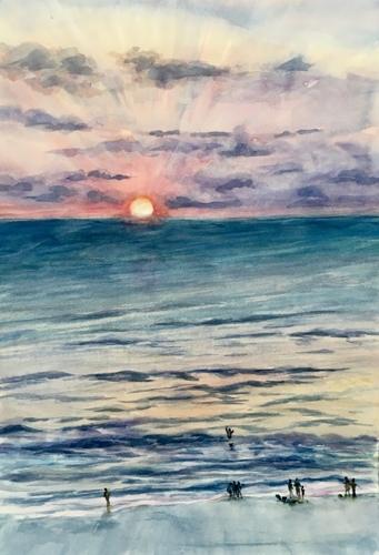 Siesta sunset by rita rust