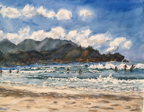 Hanalei surf by rita rust