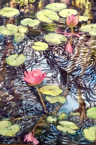 Merry Maui lotus by rita rust