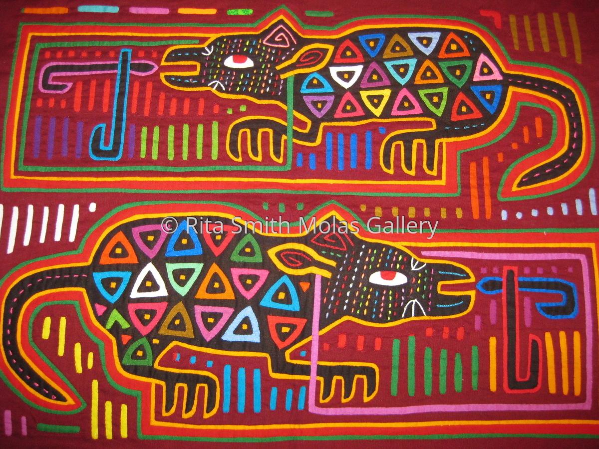 Animal Mola Vintage Kunas of San Blas #925 (large view)