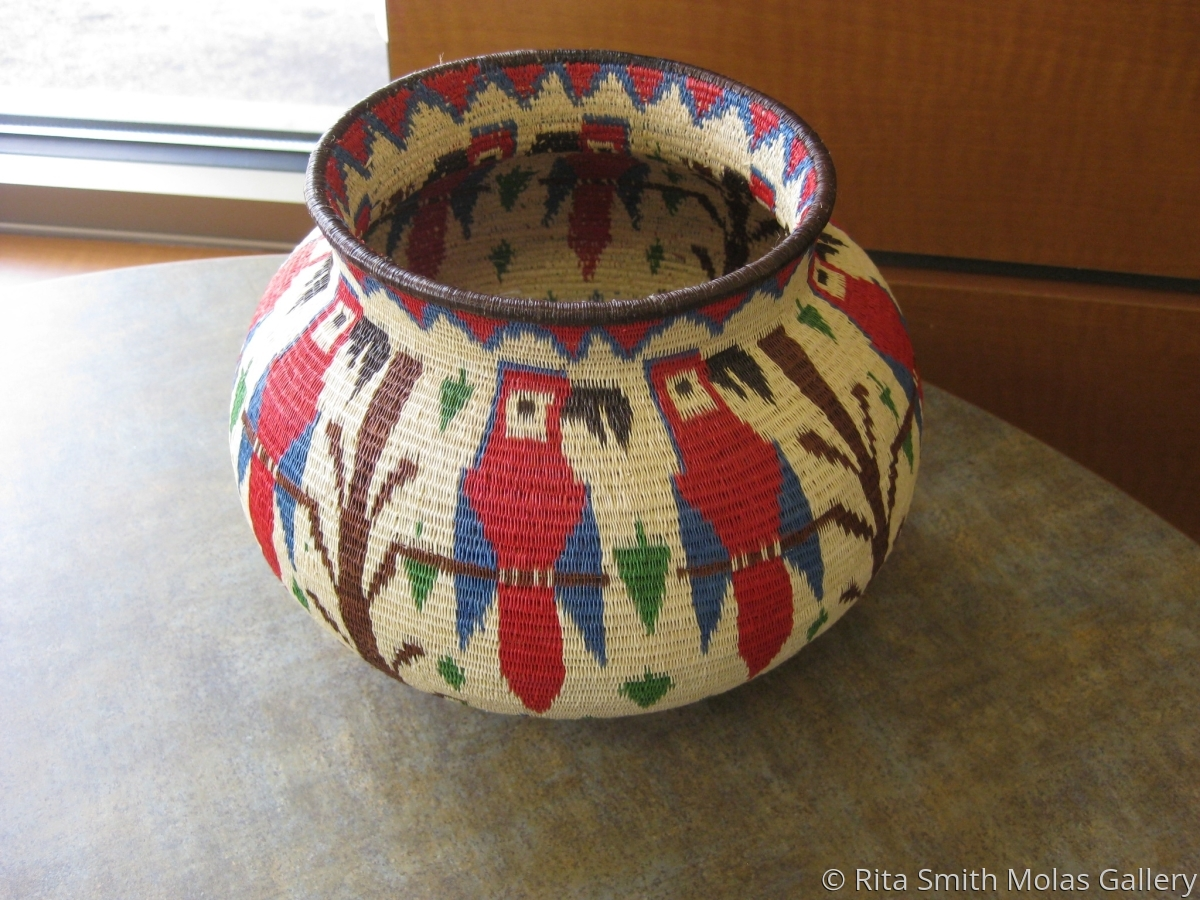 Bird Wounaan Baskets Embera Panama #1153 (large view)