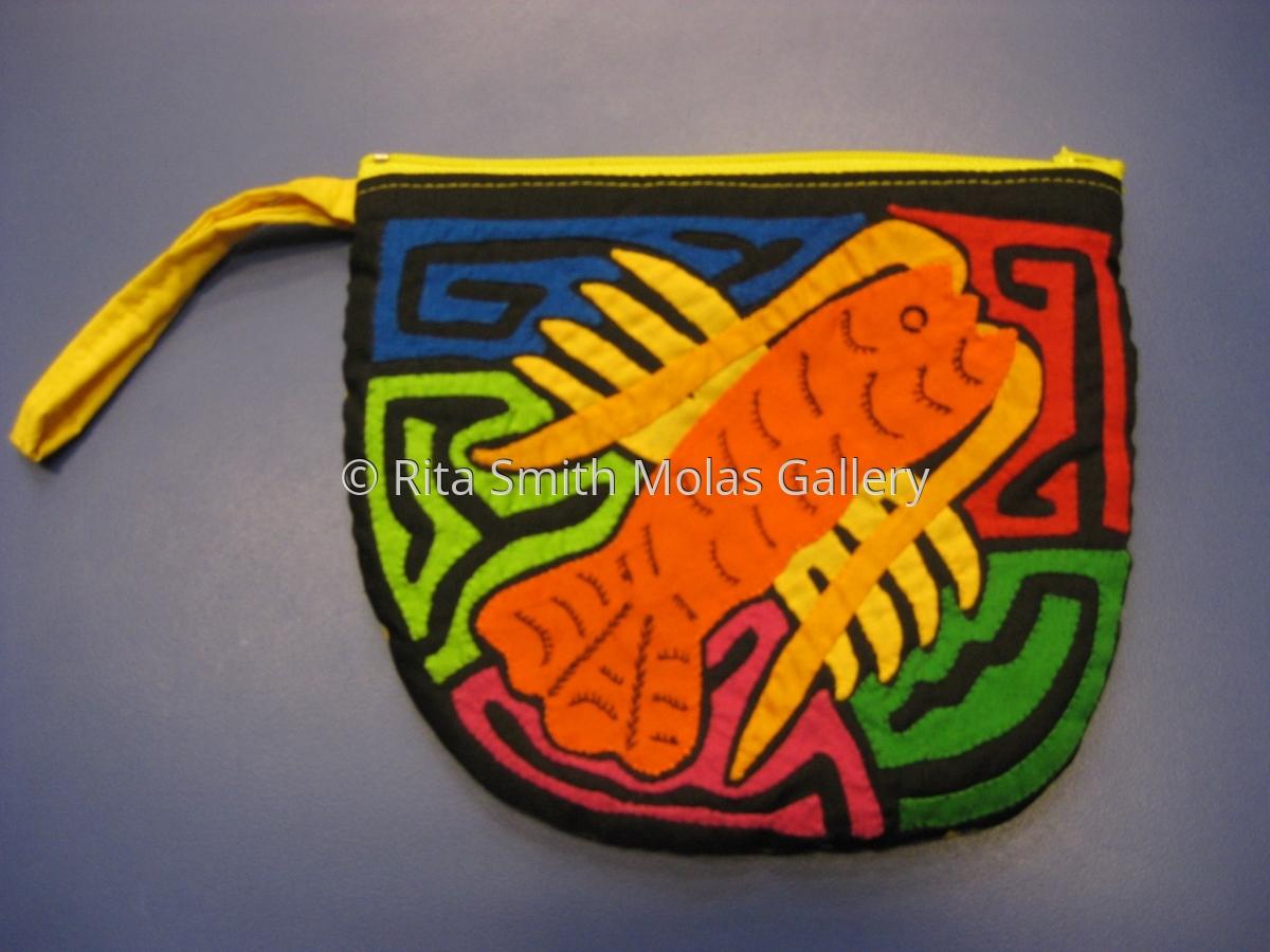 Lobster Mola Small Make Up Bag #1204 (large view)