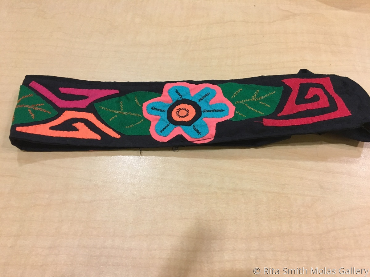 Women Mola headband with elastic San Blas Panama #1199 (large view)