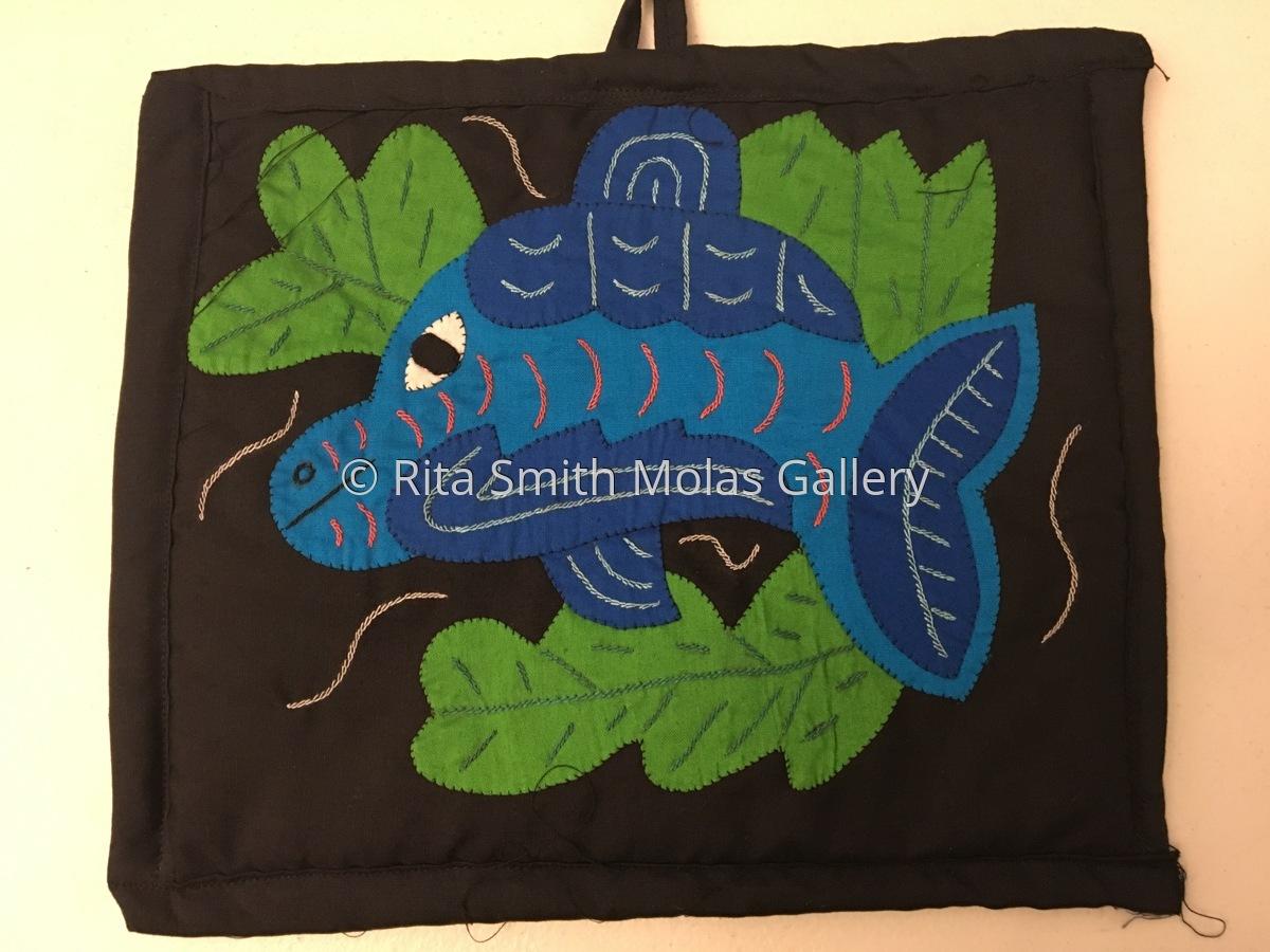 Mola Fish Sea Life Pot Holder San Blas Panama #1212 (large view)