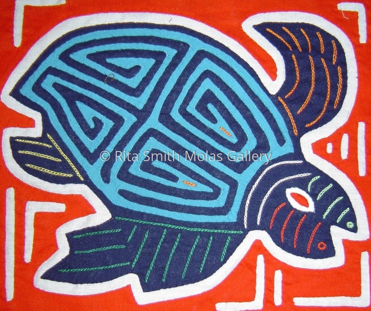 Turtle Traditional Molita San Blas Panama #563 (large view)