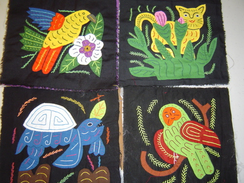 Bird Mola Quilt Art Molita Applique San Blas Panama #13 (large view)