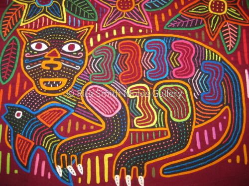 Cat Mola Kunas San Blas Panama  #884