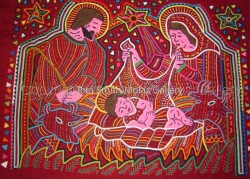 Nativity Scene Christmas Molas San Blas Panama