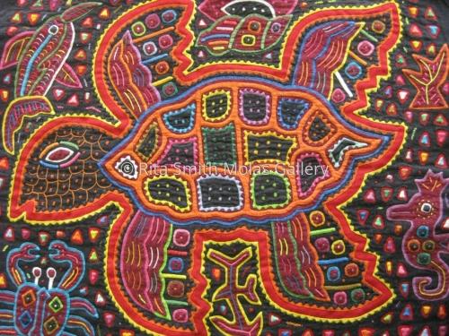 Turtle Mola Kunas of San Blas Panama #1113