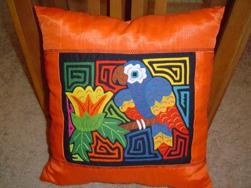 Mola Pillow Kuna Mola Quilt Textile Art Kuna Fabric San Blas Islands Panama #453 by Rita Smith Molas Gallery