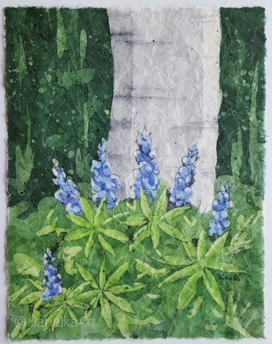 Aspen with Lupines
