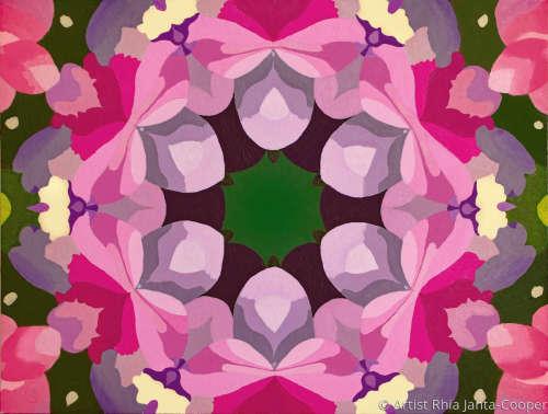 Kaleidoscope of Hydrangea Flowers by Artist Rhia Janta-Cooper