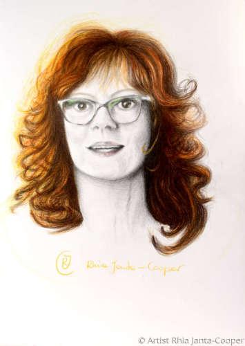 Red Head, Portrait of Female Wearing Glasses