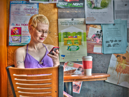 Girl At The Coffee Shop (large view)