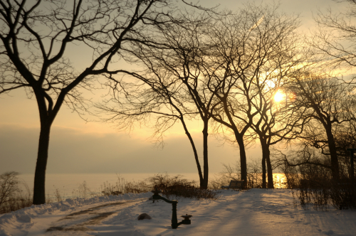 Winter Glencoe Beach Sunrise