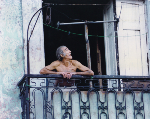 Havana Man in Window by Robert Goodman Photography