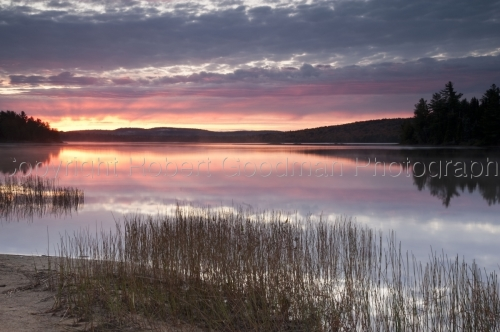 Algonquin sunrise over lake