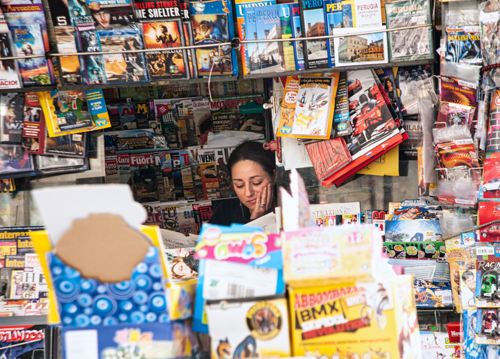 Newsstand Lady