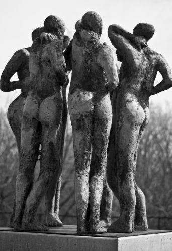 Sculpture Garden Bums by Robert Goodman Photography