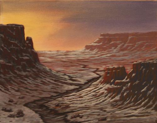 First Desert Snow (unframed) (large view)