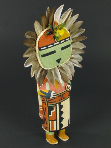 Tawa (sun) katsina carving by Raynard (Tawma) Lalo carvings and jewelry