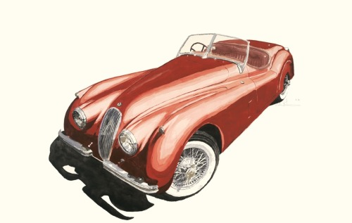 Jaguar XK120 in Red