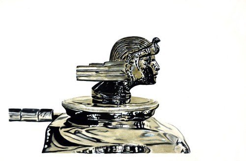 'RA' Stutz Hood Ornament