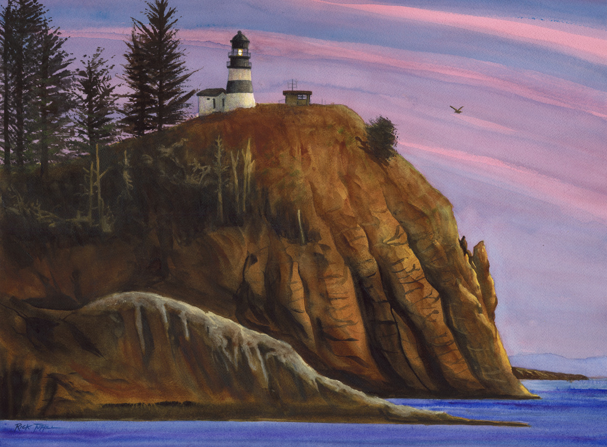 Cape Disappointment Sunset (large view)