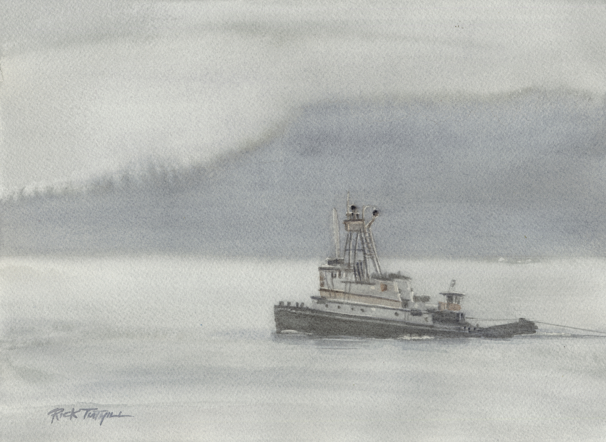 Tug Boat in the Fog (large view)