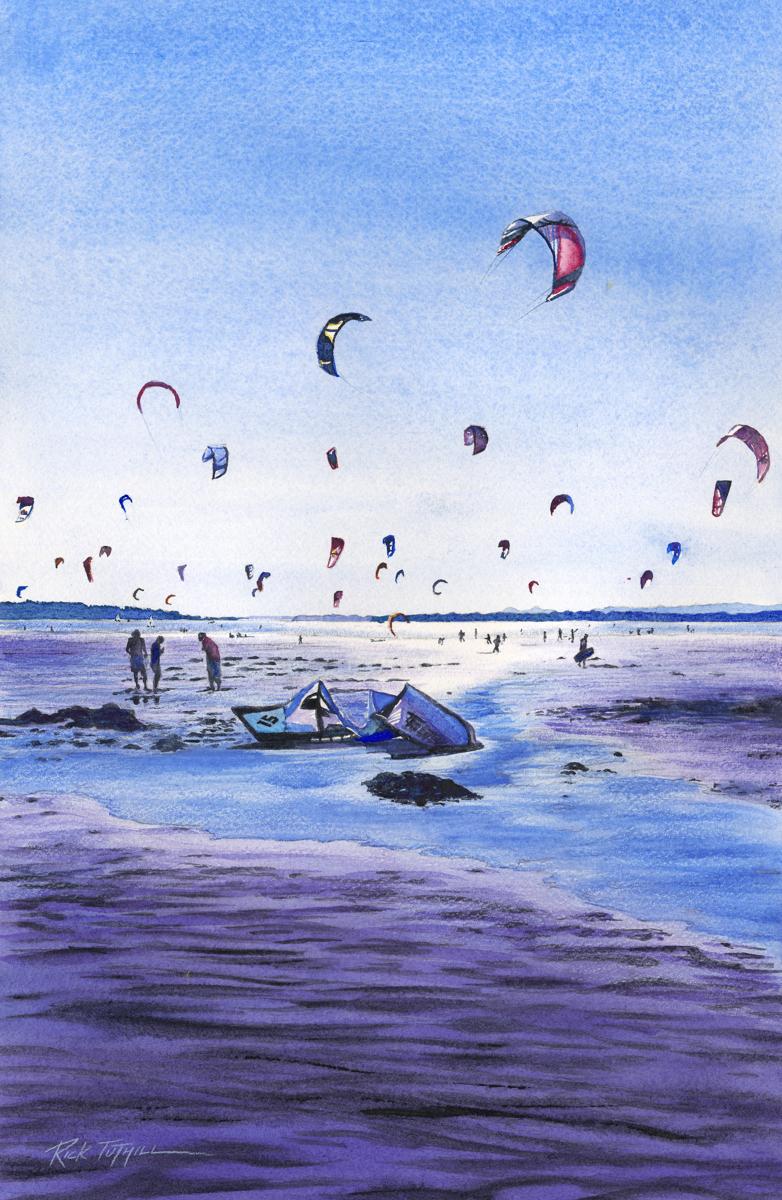 Jetty Island Kiteboarders (large view)
