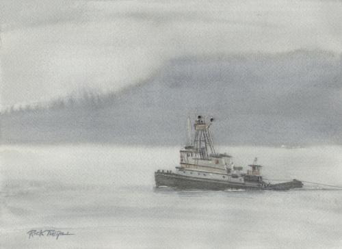 Tug Boat in the Fog
