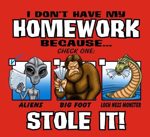 Aliens Stole My Homework