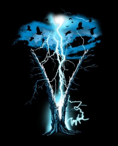Hawk Lightning Strike Tree
