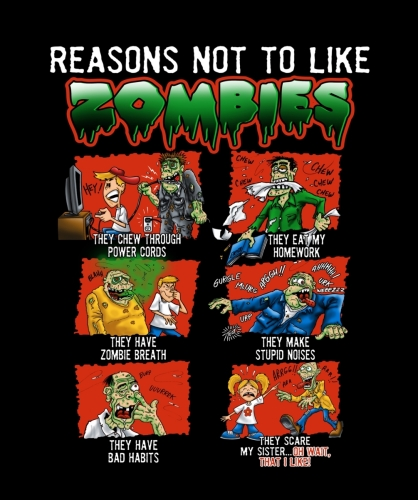 Reasons Not To Like Zombies