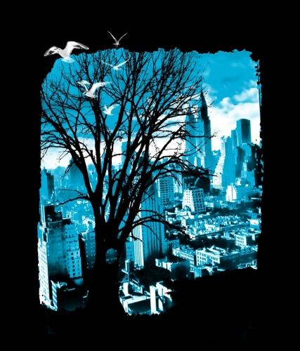 Tree & Cityscape