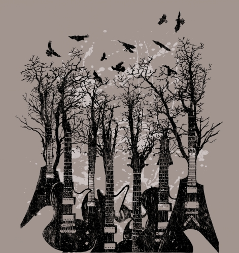 Tree Branch Guitars & Crows