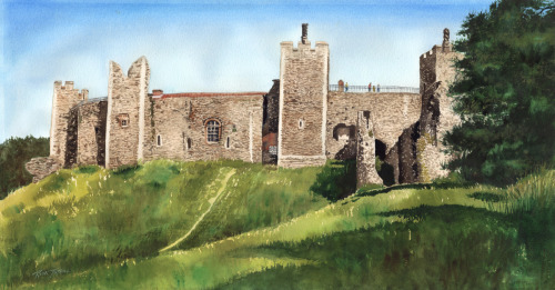 Framlingham Castle by Rick Tuthill - Everett Wa