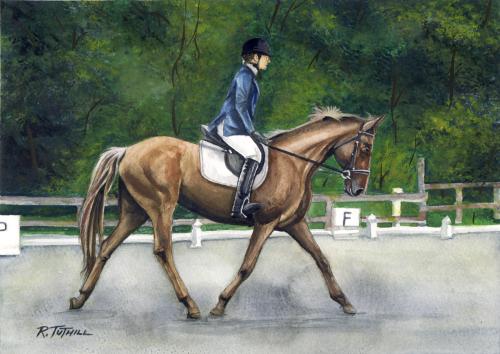 Lori on her horse.