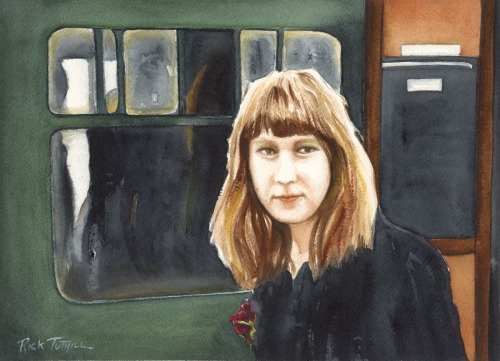 Young Rita Disembarking a Train