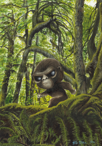 Pop Sasquatch in Hoh Rain Forest