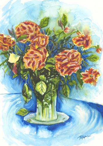 Carnations Stylized